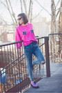 Hot-pink-upcycled-vintage-sweatshirt