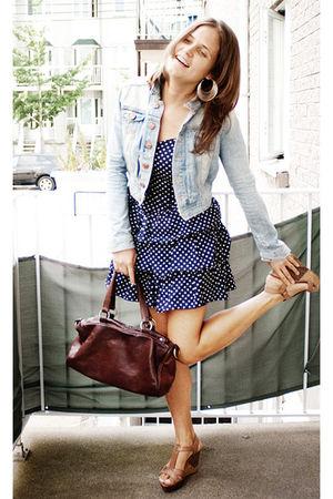H&M blazer - H&M dress - Zara bag - Nine West shoes - H&M earrings