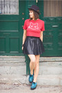 Ruby-red-cotton-diy-t-shirt