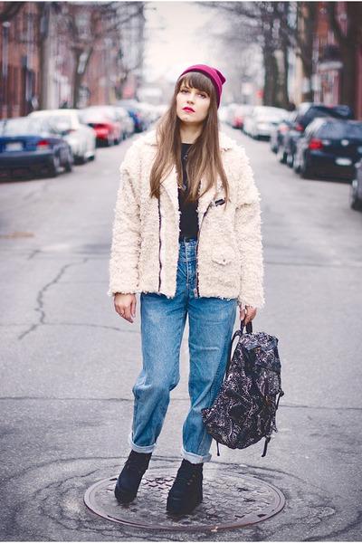 blue 80s vintage jeans