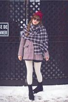black flannel DIY scarf