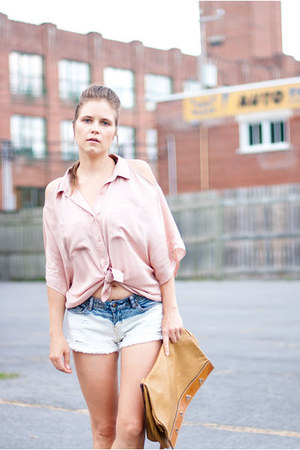 white DIY shorts - light pink Urban Outfitters shirt