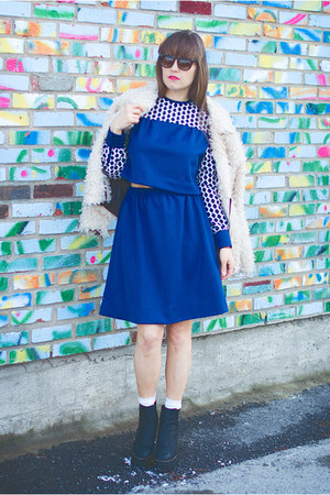 navy handmade DIY dress