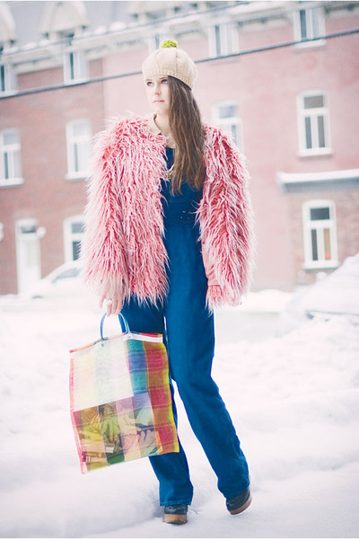Pink Faux Fur Urban Outfitters Coats Winter With Fluffy Pink Coat