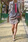 Hot-pink-zara-bag-heather-gray-cos-dress