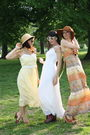 Yellow-dress-white-dress-orange-dress