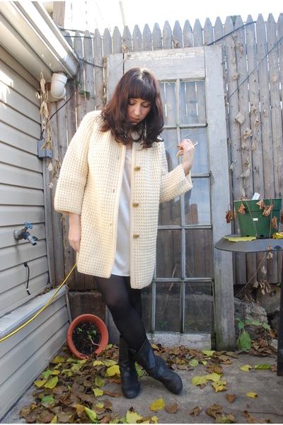 beige vintage coat