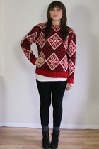norwegian wool vintage sweater