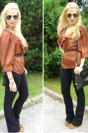 River Island pants - Marc by Marc Jacobs bag - H&M blouse
