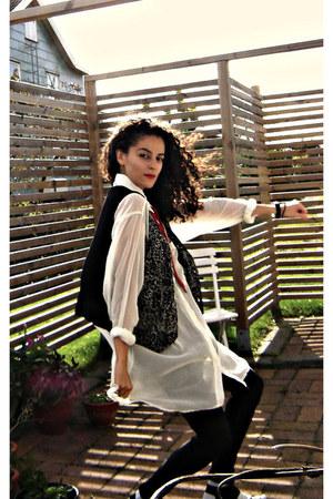 black 90s cotton vest eOvu vintage vest