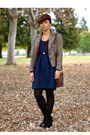 Urban-renewal-dress-forever-21-blazer-thrifted-bag-h-m-cardigan