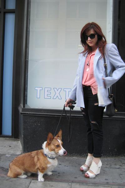 vintage blazer - vintage top - Uniqlo jeans - farylrobin shoes - vintage Dooney