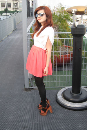 Dolce Vita shirt - vintage shoes - Luella sunglasses - asos skirt