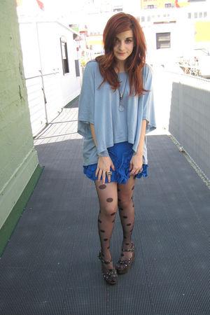 asos top - asos skirt - asos tights - vintage shoes - unearthen necklace
