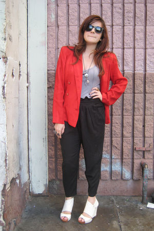 farylrobin shoes - vintage blazer - Park Vogel top - UO pants