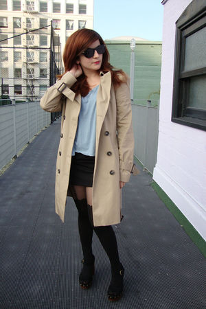 Zara jacket - asos top - asos tights - Jeffrey Campbell shoes