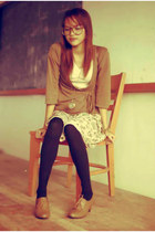 Topshop blazer - oxfords Gibi shoes - giordano skirt
