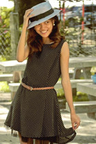 black polkadot Just Gifts dress