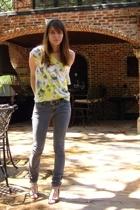 DIY t-shirt - jeans - shoes - belt