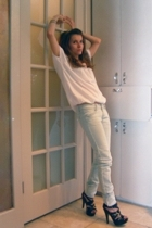Michael Stars t-shirt - forever 21 jeans - go jane shoes - bangles bracelet - di