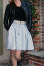 H-m-jacket-urban-outfitters-skirt-unknown-top-h-m-belt