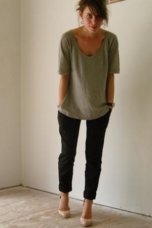 Splendid top - Target pants - go jane shoes - Philip Stein accessories