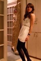Velvet dress - TJ Maxx tights - Office shoes - Philip Stein accessories - madewe