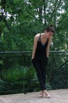 forever 21 top - American Apparel bra - Go Intl x Target pants - go jane shoes