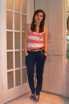 truly madly deeply top - Gap belt - Target pants - Maxstudio shoes