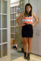 truly madly deeply top - H&M skirt - thrifted accessories - Alice  Olivia x Payl