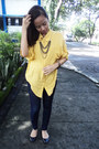 Navy-tights-navy-sm-flats-mustard-top-black-diy-necklace