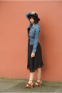 Black-free-people-dress-black-felt-hat-free-people-hat