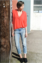 carrot orange red-orange top Nordstrom top