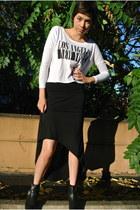 black high low skirt Nordstrom skirt - black studded outlaww Steve Madden boots