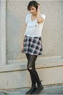Black-1460-boots-dr-martens-boots-ruby-red-forever-21-skirt