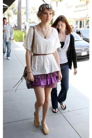 ruffled purple skirt
