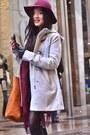 Periwinkle-wool-h-m-coat-crimson-floppy-hat-h-m-hat-crimson-h-m-scarf