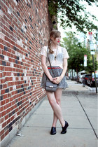 charcoal gray coach bag - gray leopard Hallelu shorts - red Uniqlo belt - black
