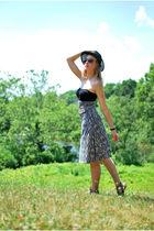 brown Forever 21 dress - black Lauren Conrad top - black Urban Outfitters hat -