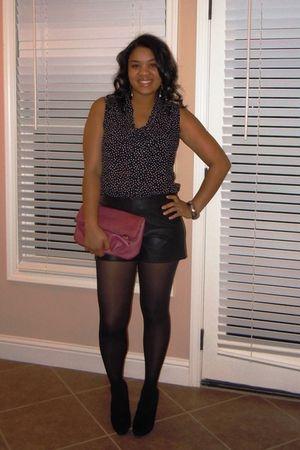 black I heart ronson top - DOTS shorts - black Target tights - black Mossimo sho