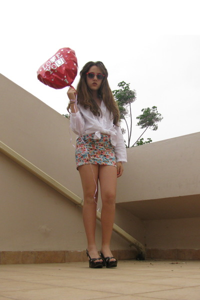 floral skirt Bershka skirt