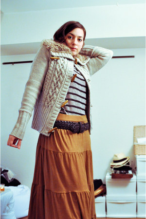 H&M skirt - Bershka cardigan