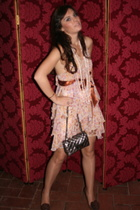 Pinko dress - Chanel lambskin 255 purse - Valentino shoes
