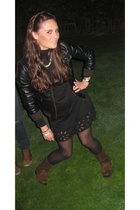 Zara dress - H&M jacket - sendra shoes