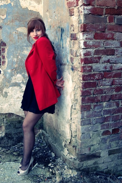 blazer - dress - heels