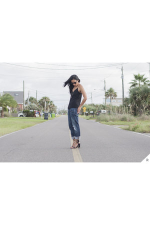 boyfriend jeans citizens of humanity jeans - Jcrew top - Topshop heels