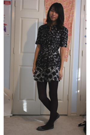 black Thakoon for Target dress - purple payless tights - gray kelly&katie shoes