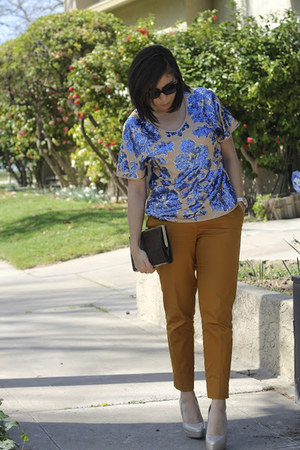 sequins tracy reese blouse - H&M pants