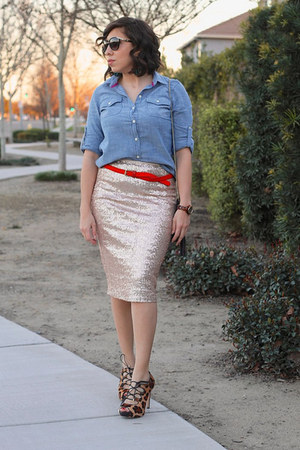 sequins Dorothy Perkins skirt