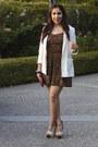 Forever21-dress-h-m-blazer-steve-madden-heels